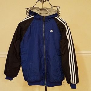 Men's Adidas vintage double sided blue gray jacket